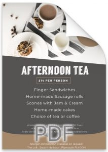 Afternoon Tea at The Loft Plymouth.