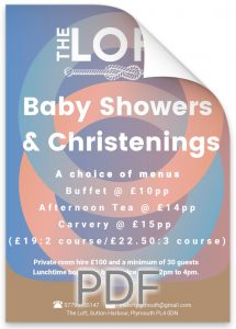 Baby Shower and Christening.
